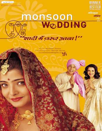 Poster Of Monsoon Wedding 2001 Hindi 720p BRRip ESubs Watch Online Free Download Worldfree4u