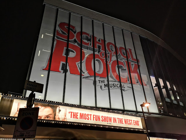 school of rock theatre sign