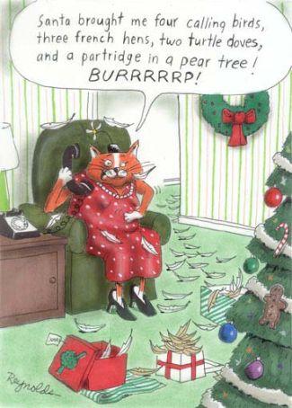 Reaganite Independent Corny Christmas Cards N Comics