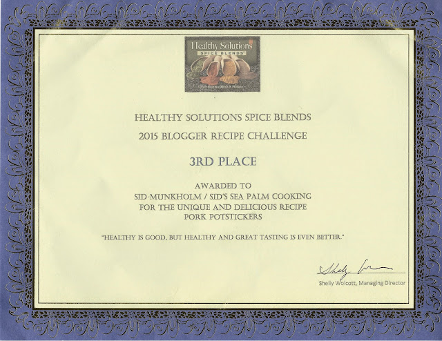 Third Prize for Healthy Solutions Spice Blends contest