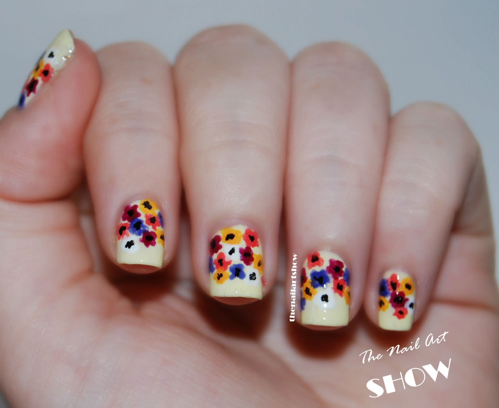 June Nail Art Challenge  Day 4: Flowers   The Nail Art Show