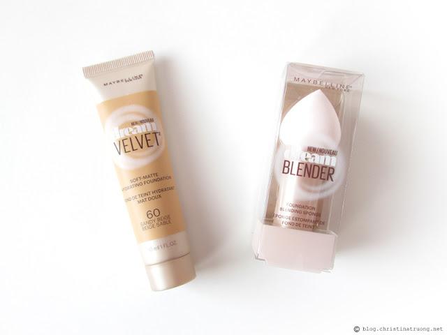 Maybelline Dream Velvet Foundation and Blender Review 60 Sandy Beige