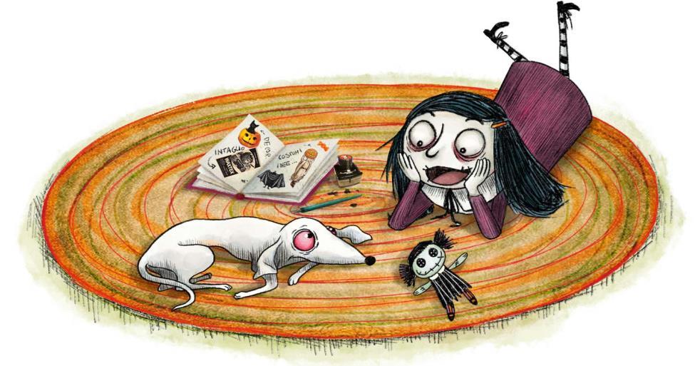 Detalhe de Mortina e seu cachorrinho