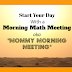 "Our Math Morning Routine - aka ""Mommy Morning Meeting"""
