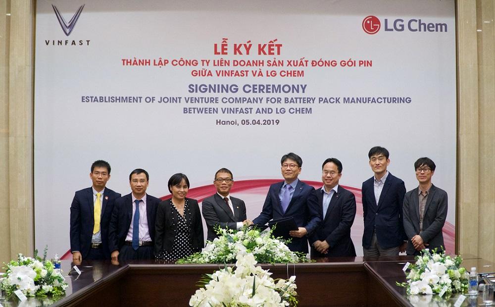 VinFast và LG Chem thành lập liên doanh sản xuất pin