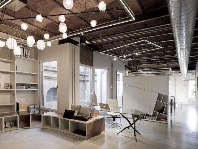 desain interior rumah minimalis industrial