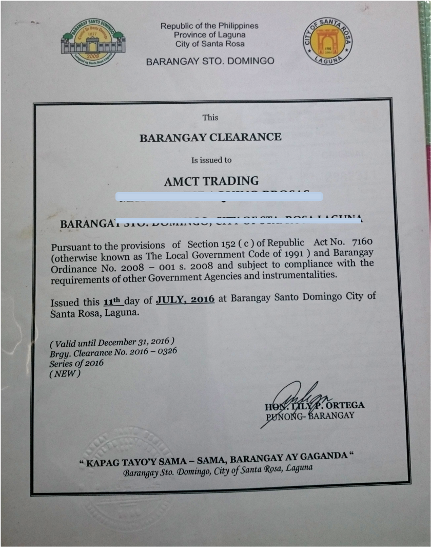Curious May: HOW TO: ACQUIRE BARANGAY BUSINESS PERMIT (A Pre