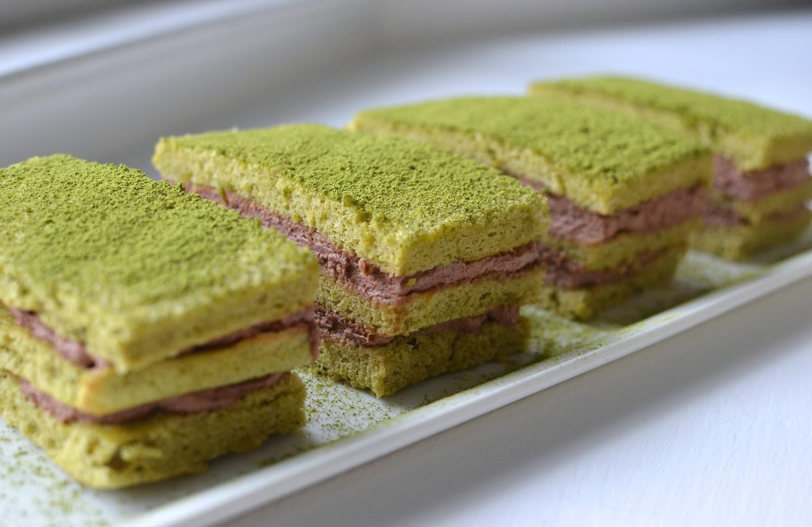 Playing With Flour Matcha Almond Sponge Layer Cake Redo
