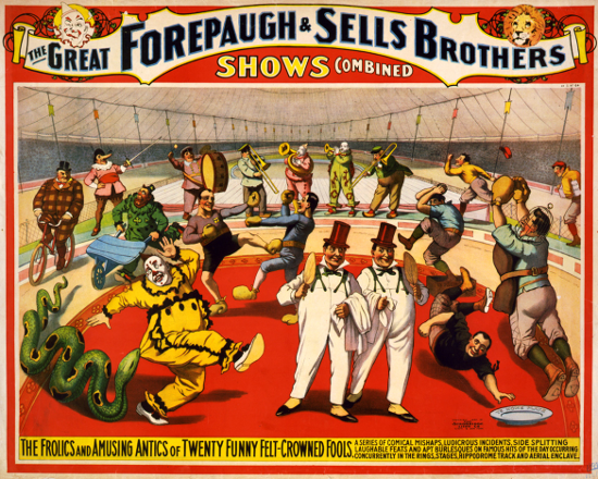 "Poster: ""The great Forepaugh & Sells Brothers shows combined"" (1899)"