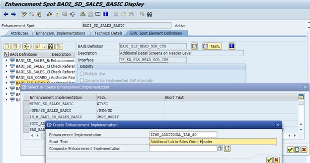 SAP ABAP Central: Add extra tabs to the standard transaction for