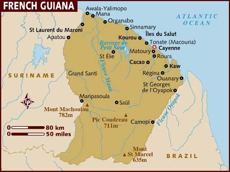 Mapas da Guiana Francesa | França