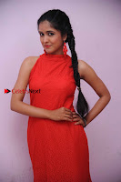 Kannada Actress Chaitra in Red Dress at Damki Damar Movie Audio Release  0001.jpg