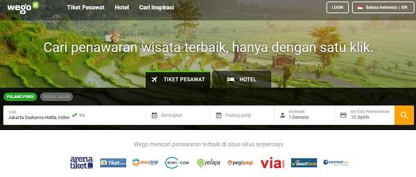Situs travel murah wego untuk pesan hotel dan pesawat online