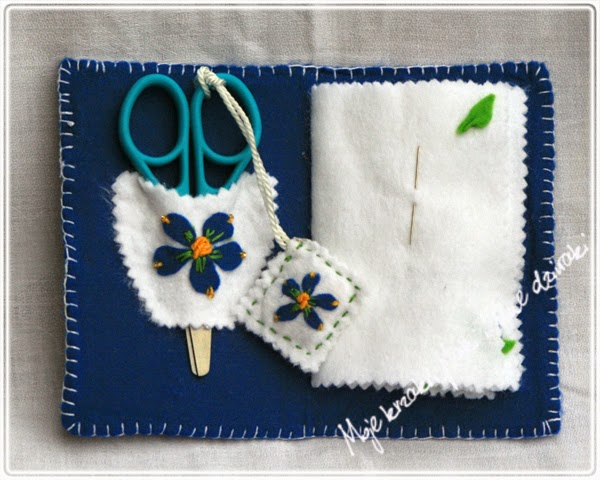 pincushion, felt craft, prace z filcu, biżuteria z filcu, sewing accesories, needle book