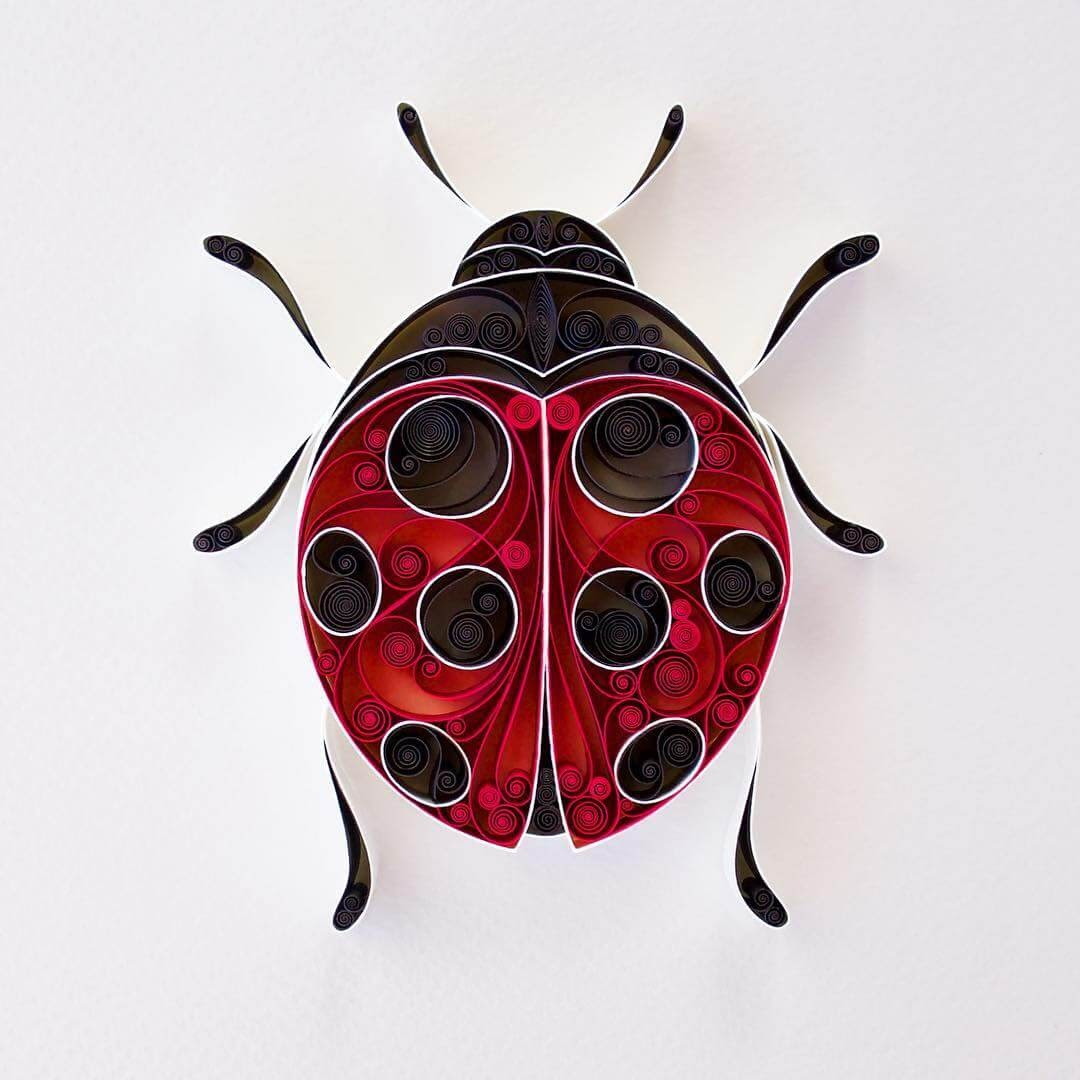 07-Ladybird-Lady-Bug-Sena-Runa-Quilling-Art-Animals-and-Objects-www-designstack-co