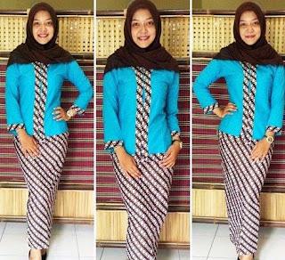 contoh setelan baju batik wanita