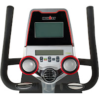 Ironman X-Class 310's console, image, with dual LCD display, speakers and cooling fan