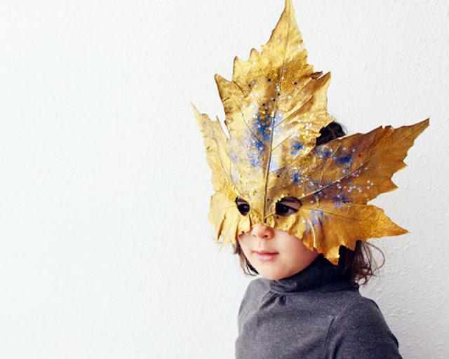 Máscara de Carnaval Hojas