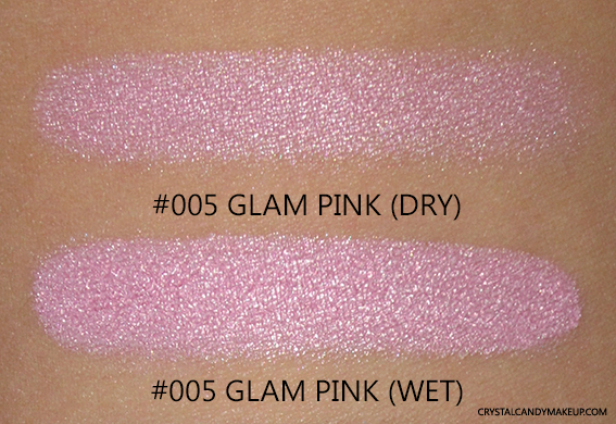 PUPA Vamp Wet Dry Eyeshadow 005 Glam Pink Review Swatch