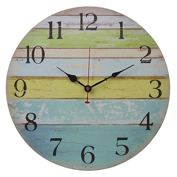 Silent non-ticking beach wall clock