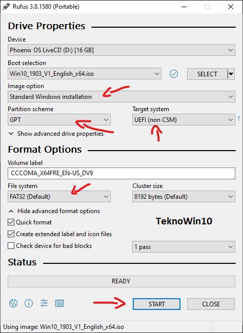 Cara Mudah Membuat USB Bootable Windows 10 Dengan Rufus