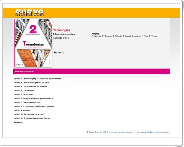 """Anaya Digital: """"Tecnologías de 2º de Educación Secundaria"""""""