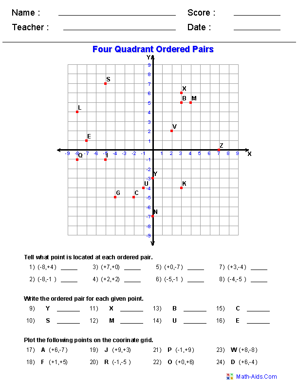 Simone 39 S Math Resources Coordinate Graphing