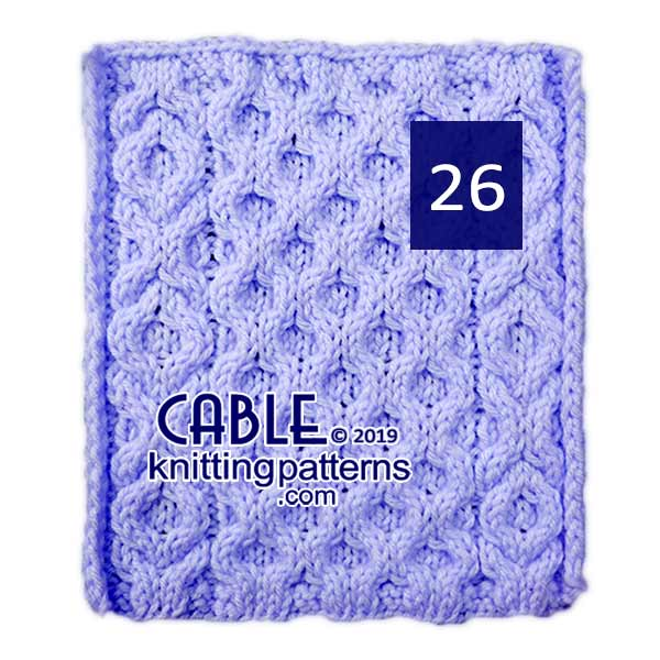 Cable Knitting Pattern 26
