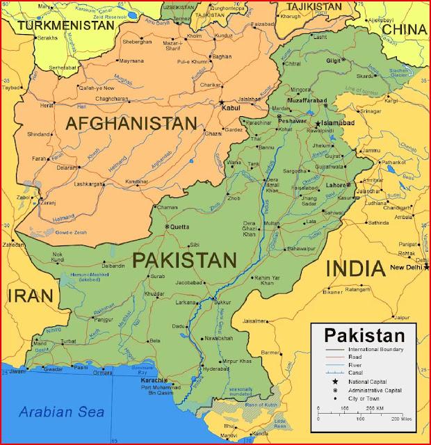 Gambar Peta Pakistan