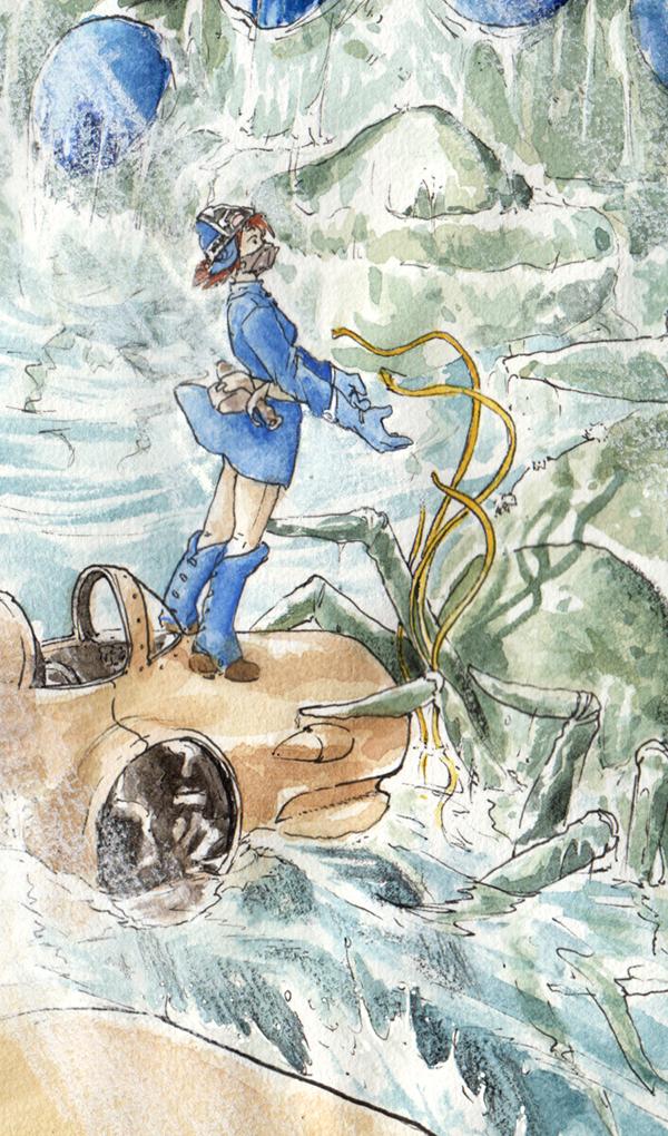 Nausicaä rencontre les Ômus - détail