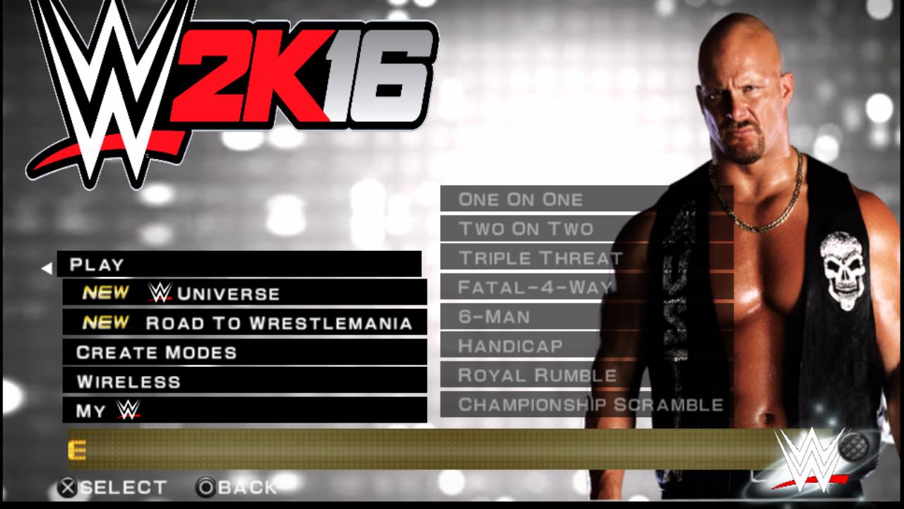 WWE 2K16 PSP - AB Tech gaming