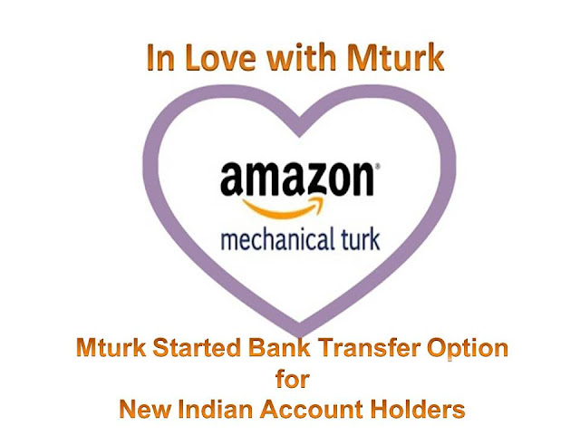 mturk bank trasnfer, how to get mturk bank trasnfer option, get bank withraw option on your mturk accoount