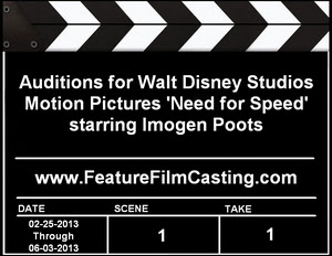 Disney Casting Need for Speed