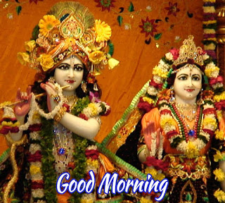Good Morning Image Of Radha Krishna