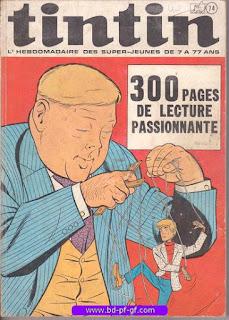 Tintin recueil souple, numéro 74, année 1970, à restaurer