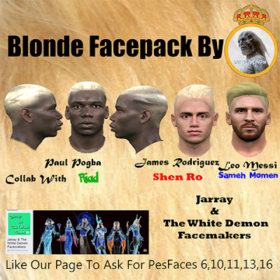 PES 2016 Blonde Facepack By The White Demon