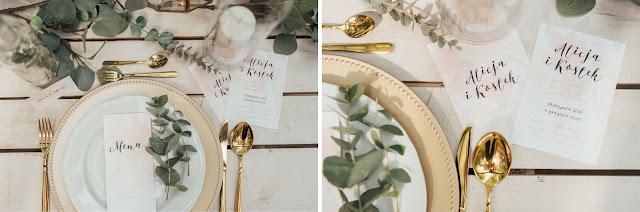 Przepiękna delikatna i elegancka papeteria ślubna od Love me paper.