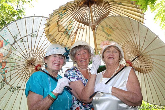 L-R: Barbi Speers, Sue Taylor, Irene Craft, all from Hastings, organisers of Madness in the Mall, an Art Deco Market next Thursday in the Hastings Mall, Hastings. photograph