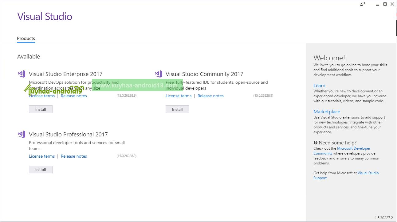 Visual Studio 2017 kuyhaa
