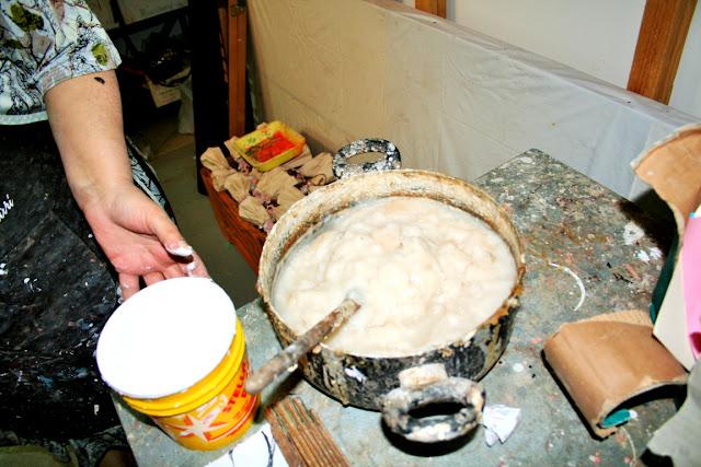 colla di farina, artigianato cartapesta