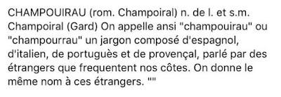 A Perpignan , Perpiñá , parláen Champouirau
