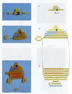 Животные из бисера для начинающих рыбка схема плетения