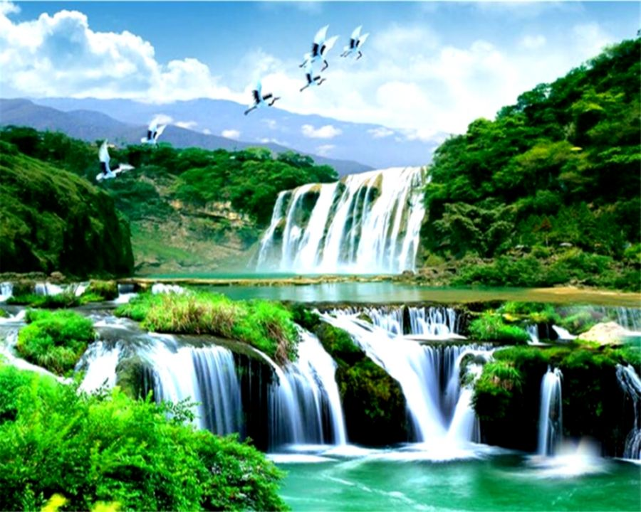 Small Waterfall 3D Nature Wallpaper  HD Wallpapers Plus