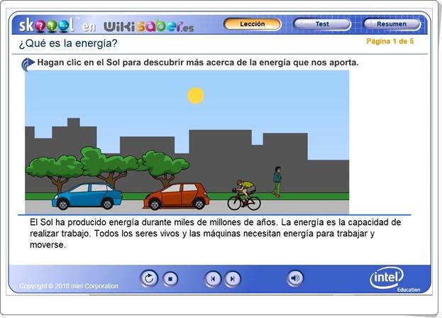 """""""¿Qué es la energía?"""" (Aplicación interactiva de Ciencias Naturales de Primaria)"""