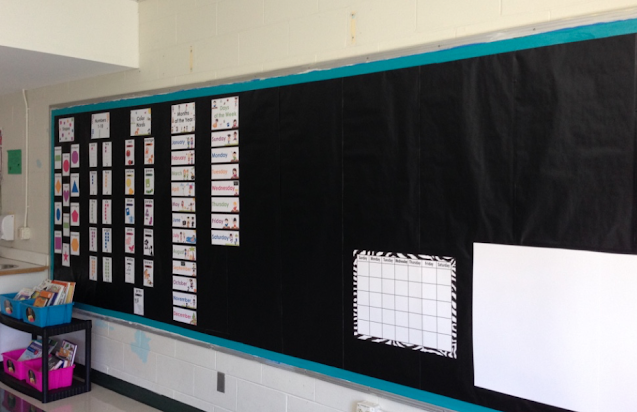 contact paper on old bulletin boards