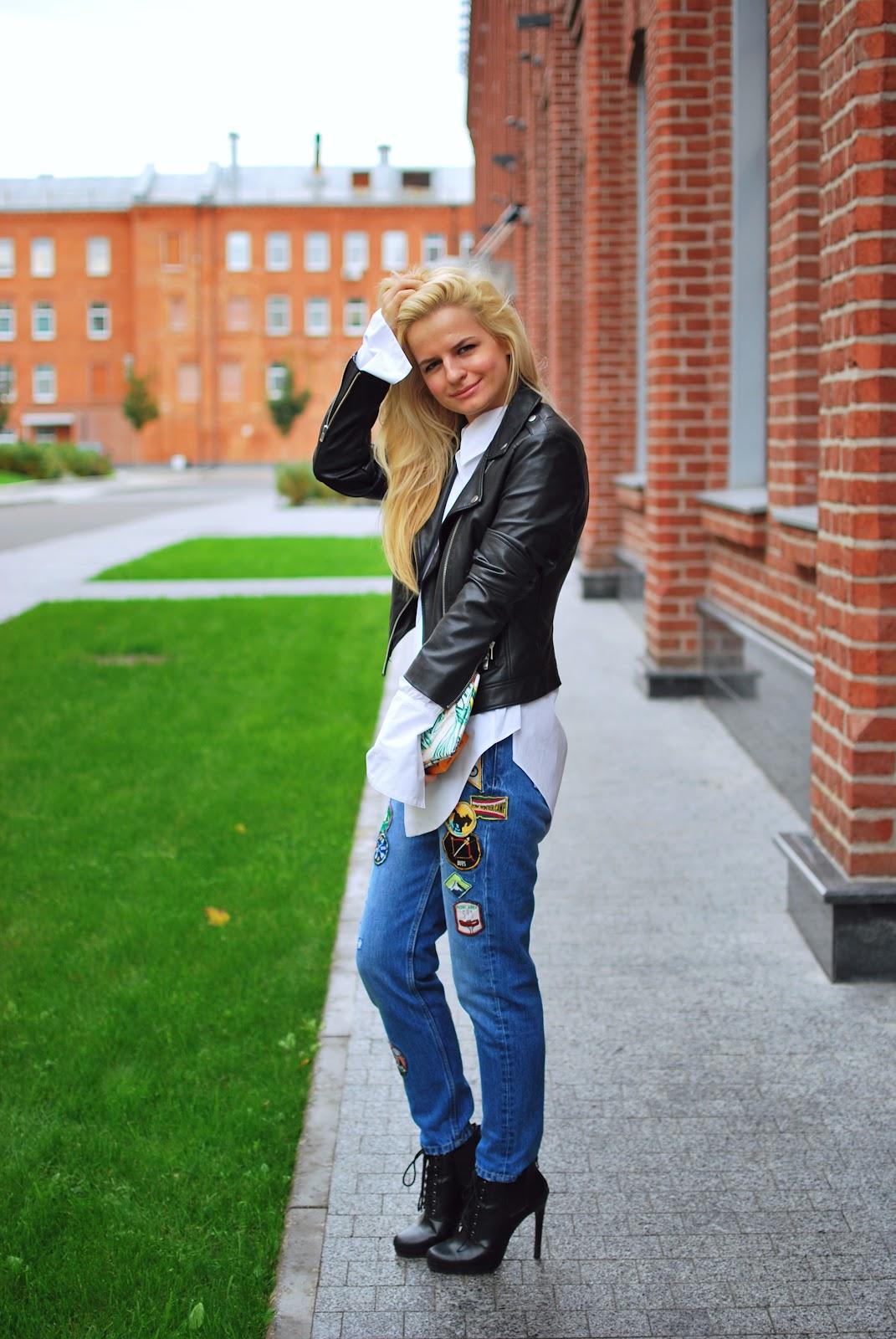 мода 2016, уличная мода, фэшн блоггер, модный блоггер, модные луки, модный лук,blogger fashion look, costa de la moda, street style denim, jeans with patches, what to wear