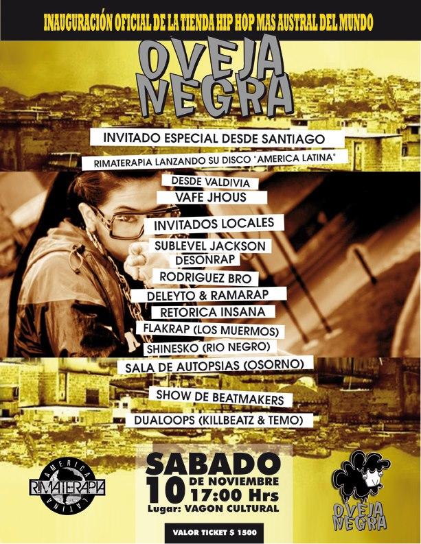 ccf75bfba7d6e Este Sabado se inaugura la tienda Hip Hop Oveja Negra con una Tocata en el  Vagon Cultural
