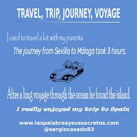 Diferencias entre Travel, Trip, Journey y Voyage, inglés, aprender inglés, confusing words, dudas del inglés, palabras confusas en inglés