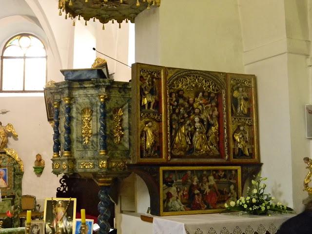 rzeźby, kościół w Sobinie, Dolny Śląsk