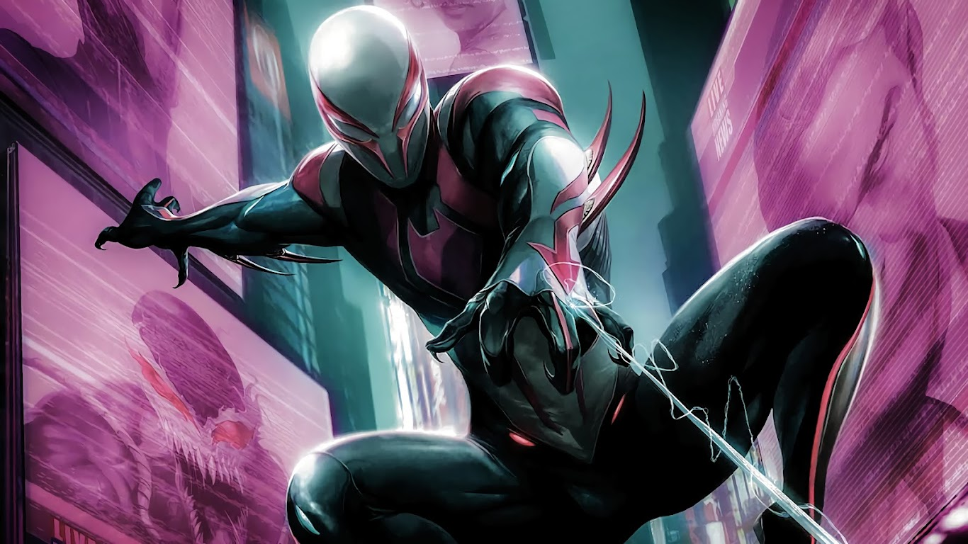 spider 2099 marvel miguel comics 4k anime hara wallpapers desktop background mecha ohara computer pc 1080p illustration spiderman px miles